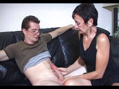 Mum Marie makes his large rod cum