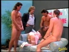 80s porn gangbang with bushy hair hotty