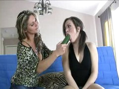 Enchanting juvenile gal learns how to blow from a milf