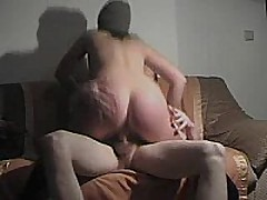 This german fuck floozy rides cock, sucks dick, and gets slammed doggystyle and gets a cum blast on her ass!!