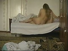 Excited blonde chick joins her boyfriend in the bed to have a wild fuck session with him. She greedily sucks his piston then receives fiercely slammed in each position.