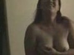 Insatiable and wild, this bulky sweetheart loses any control when sees home camera in her lover's arms. That babe exposes large boobs and eats pecker.
