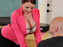 Johnny's new substitute teacher is one sexy large-titted cutie... That Babe has Johnny daydreaming about a sexy fuck session in the class!!! Turns out poor Johnny wasn't dreaming entirely after all...