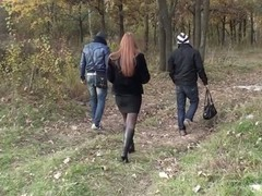 Want To learn how to pick up a sexy angel in a park and talk her into blowing u and your friend right there in the park? Okay, this clip has all that u need to know about picking up women. This Hottie was a busty redhead who had some free time, we were 2 horny men looking for pickup fuck, we were meant to receive jointly! Even though this chick hesitated at first, gorgeous in a short time this chick was showing her big exposed milk sacks to us, and several minutes later that redhead chick was standing on her knees sucking one as well as the other of us off. ...