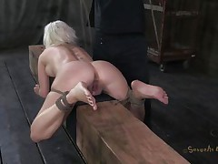 Marvelous bitch Cherry is bound up on a wooden barn and an executor comes from behind and copulates her sexy ass deep. This babe being treated like a piece of meat, exactly the way she likes it. Surely that fucking was just for warming up, much greater amount await this cutie. Stay tuned and discover out what!