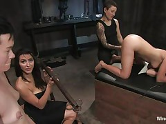 Eager for punishment, those 2 girls volunteer for a testing raunchy experience on the female body. Vai and Jiz Lee are 2 hot slender girls who have a enjoyment being punished during the time that they are tied up in bondage. See 'em moan with one as well as the other pleasure and pain as Princess Donna Dolore punishes 'em with excitement.