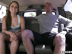 Angel Remy LaCroix is one time again delighting us with her sex drive. This time the hawt ass sweetheart takes a ride white the bang bus and acquires a hard schlong between her soaked lips and in that tight shaved bawdy cleft of hers. Look at her working hard for some cum, ridding the stud in cowgirl position