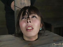 Fucking wench Marica with charming face is all tied up in a box and has a sex-toy on her constricted pussy. She groans with pleasure, lovely her lascivious slaver Matt who makes her face gap engulf his big hard cock. That stud sticks it in her messy face gap and stays there, making her slit so wet and wishing for more!