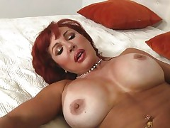 Her years of experience in fucking have a lot to say. Check out this gorgeous redhead milf and how lustfully this babe sucks and bonks cock. Damn the bitch knows how to drink a rod and when this babe goes on top and rides this dude we can clearly see her muff lips spreading. Yeah this milf needs some spunk deep inside her