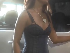 Gorgeous chick with sappy boobies receives nailed on the camera