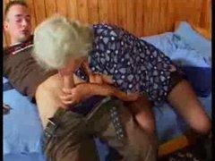 Busty German Granny fucks juvenile Chap