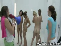 Lesbian shower for college beauties