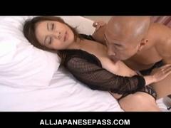 Busty japanese playgirl natsumi mitsu trades head and receives nailed