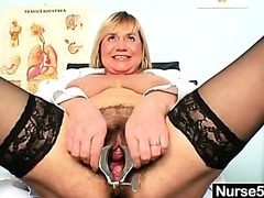 Breasty lady Irma got extremly unshaved wet crack