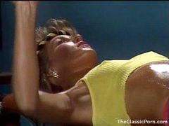Fucking an 80s gym girl in retro episode scene