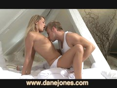 DaneJones Golden-haired girlfriend enjoys hard big O