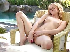 Hot Tatum Woods loves toying her juicy wet slot