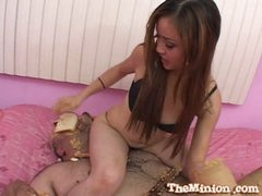 Pleasing oriental babe likes fucking pleasing weenies