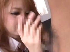 Schoolgirl Giving Oral pleasure For Guy Riding On His Wang On The Bed In The Room