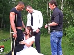 Rough anal fucking at wedding fuckfest