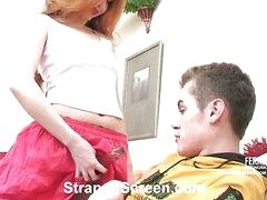 Sylvia&Tommy nasty strapon video