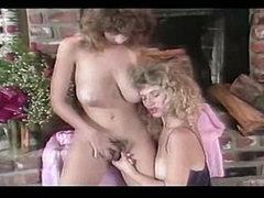 Christy Canyon and Rikki Blake - Sexy Lesbian Scene