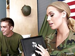 Look at this sexy marine playgirl Nicole Aniston, this honey is a hot, golden-haired hair, wet lips, gorgeous eyes and perfect large tits. Her ally is filming her and this honey acquires down on her knees getting ready to wrap those wet sexy lips around his large hard penis, is he going to give her a massive load of cock juice on those sexy lips and marvelous face?