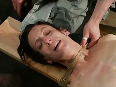 The fact she's scared and cries makes the punishment even sweeter for me. i fastened her hard and the rope around her neck nearly suffocates her so why the fuck that hottie cries instead of trying to breath? Well, that's that, perhaps some hard wet crack rubbing with a sextoy will make her happy, or at least to moan not cry