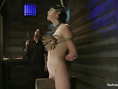 The good looking brunette milf Coral Aorta is having the pleasure of a lifetime with her male friend. She has him punish her like this chick wants. That fellow First attaches a bunch of clothespins to her tits, then this fellow uses a big vibrator to enhance the pleasure. She begins moaning as this chick needs to have his cock inside her.