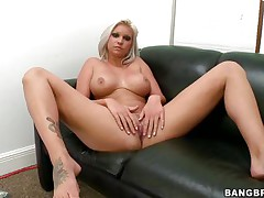 Slut with short blonde hair, Deadra Dee, is showing her big wobblers and widening her legs as this playgirl widens her cookie for u too. See her soaked cookie as this playgirl is masturbating for pleasure. On a couch, expecting for a 10-Pounder with her nude body this wench is willing to acquire screwed hard. And as a rod came, this playgirl started blowjob instantly!