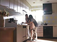 Whilst doing her housework, her man approaches her and that guy gives his woman a well-deserved break from all these chores. Rika is a older Asian and still has a sexy body and a booty that makes cocks hard! Her big wobblers are getting squeezed and licked by him and then that guy rubs her slit good and slow.