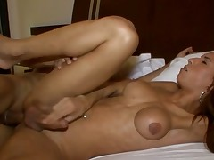 Sexy shemale implements her wild anal fantasies