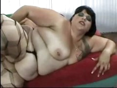 Chunky fuck in nylons fucked in the booty