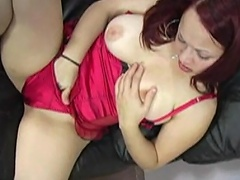 In her vicious, kinky lingerie, her this babe comes and she's absolutely...