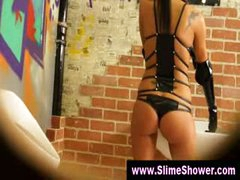 Gloryhole gals moist and dirty shower