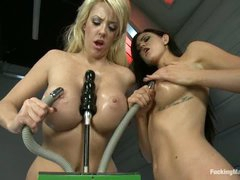 Busty Courtney Taylor and Kendall Karson love sex machines