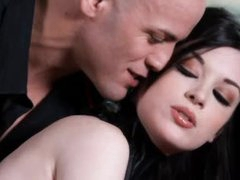 Kinky cutie in collar is consummate cutie in submission to him