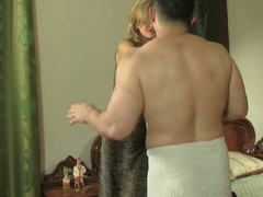 Cheating european boyfriend acquires busty with pants in his pocket