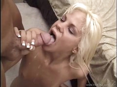 Sexual Shay Sweet gets her throat filled with warm goo