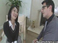 Hawt Oriental School Bonks Her Teacher