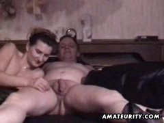 Mature amateur pair homemade hardcore action