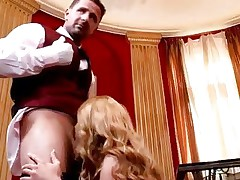 Sassy Cathy Heaven receives her juicy face hole slammed