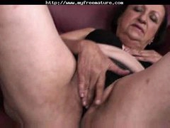 Chubby Granny Plays And Fingers