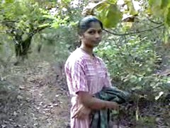indian teenage honey fucking very hardly with in forest