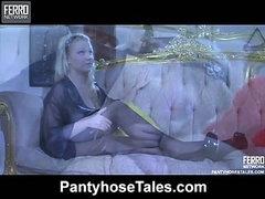 Ida A&Gideon wicked pantyhose action
