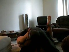 Big gorgeous woman gets pounded by a well endowed darksome stud on the floor, that babe is addicted to darksome dicks, and making home sex vids with them too.