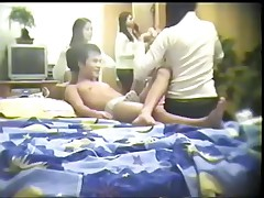 This is just a perfect sample of the intimate home movie scene filled with group Oriental fucking and nice-looking chicks that would do everything to be fucked hardcore