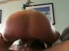 This gal is taking a strap-on dildo in her ass. Her hubby fills her ass with it hard. Then that babe sucks his shlong and finishes with his shlong in her cookie