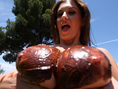 Sara Stone has the almost any excellent set of massive freakish natural breasts that are just beautiful. This Chick likes to drink cum right off her massive breasts after a wonderful hard fucking. These FREAKISH breasts acquires u hard instantly during the time that they bounce up and down, and overspread with chocolate frosting...