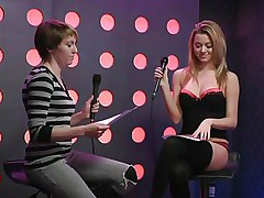 2 sexy girls speak live about sex in a jewish manner. They are broke and trying to buy something, but don`t have enough money. Those jokes about sex are truly turning 'em on. Moreover looking for Mr. Right, the blond desires to go down on her girlfriend for some money. This babe takes her bra off, it`s so hot.